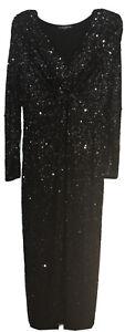 Pietro Brunelli Black Sequined Maternity Dress - Size S / formal