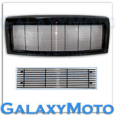 09-14 Ford F150 Upper+Bumper All Black Billet Grille+Complete Replacement Shell