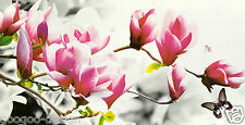 XXL Stickpackung Rosa Tulpen Magnolie 119x40cm Magnolia Kreuzstich DIY #80177