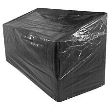 Oxbridge Waterproof Outdoor Large Bench Cover Set 120g/M2 PE BLACK