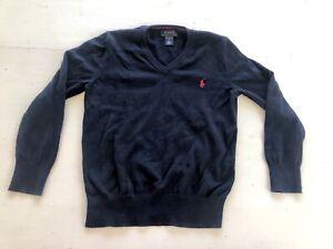 Polo Ralph Lauren Sz 6 Sweater Pima Cotton Navy Blue