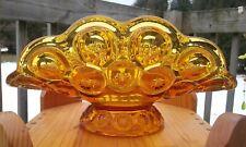 "Vintage Amber Depression Glass Banana Stand Napkin Holder 12"" x 7 1/4"" x 6"""