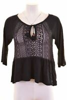 HOLLISTER Womens Top Blouse Size 10 Small Navy Blue Viscose  P202