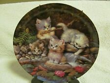 Bradford Exchange Kahla Germany - Cat Plate Am Seerosenteich