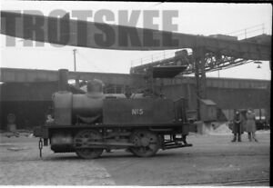 35mm Negative Dallam Forge Warrington Industrial Steam Loco No.5 1958 1