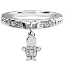 Ring in 14k White Gold Mini Cubic Zirconia Sziro Boy Charm