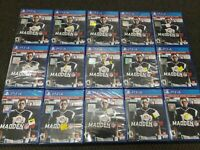 LOT 0F 15 Madden NFL 18 Bonus (Sony PlayStation 4, 2017)| Brand New Sealed 15x