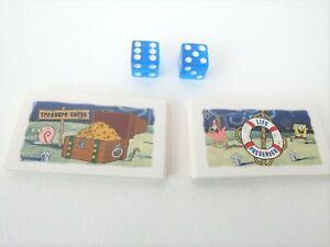 SpongeBob SquarePants Monopoly Treasure Chest & Life Preserver Cards Dice Parts