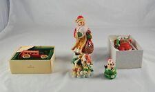 Lot 4 Christmas Decorations Hallmark Santas Deliveries Enesco Moo Figi AA3G3