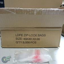 "5000 Zip Lock ZipLock Plastic Seal Bag 40x40mm 1.5x1.5"" Resealable clip magic"