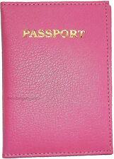 New Leather passport holder credit ATM card case ID International passport BNWT
