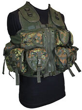 9 POCKET Flecktarn Camo Tactical Assault VEST Rig Army Military Utility Pouch