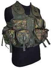 9 tasche Flecktarn Mimetico Tactical Assault Gilet Rig Esercito Militare Utility Pouch