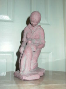 Mother & Child Baby Sculpture Statue Signed