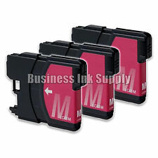 3 MAGENTA New LC61 Ink Cartridge for Brother MFC-495CW MFC-J410W MFC-295CN LC61M