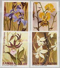 ZAMBIA SAMBIA 1992 595-98 566-69 Orchids Orchideen Blumen Flowers Flora MNH