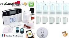 Alarme de Maison GSM et Téléphonique Sans Fil 6 zones et Détecteur de Fumée 6-6F