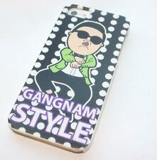 iPhone 5 5S SE - HARD BACK PROTECTOR CASE COVER BLACK WHITE PSY GANGNAM STYLE