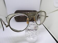 Vintage Bausch & Lomb Safety Glasses Goggles 22 With Old Case, SteamPunk