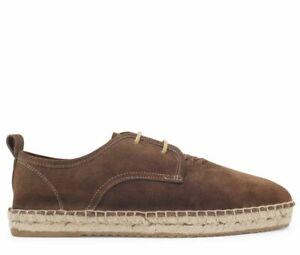 "RRP £95! Hudson London Mens ""Miami"" Espadrille Shoes,Size UK 8 EU 42, Summer"