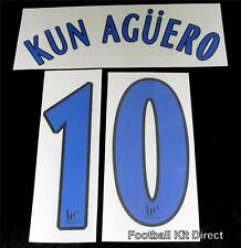 Official Atletico Madrid Kun Aguero 2006/07 Football Shirt Name/Number Set Home