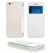 For iPhone 6 6s Windows View Flip Clear Gel Case Cover Skin Case Cover Protector