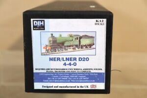 DJH K12 KIT BUILT NER LNER BR 4-4-0 CALSS D20 LOCOMOTIVE with WHEELS & MOTOR nw