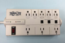 Tripp Lite 8 Outlet Surge Protector Power Strip 8ft Cord TLP808TEL WITH TELEPHON