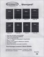 Showgard Supersafe Stock Sheets 3 Row Double Sided Pages 82mm 5 Pack S3