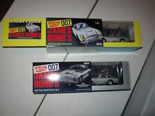 CORGI JAMES BOND 007 ASTON MARTIN DB5. 4205 DIE CAST 1st & 2nd release set of 2