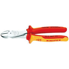 Knipex 200mm High Leverage Side/Diagonal Cutters 1000V VDE Insulated 74 06 200