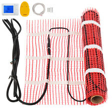 40 Sqft Electric Tile Radiant Warm Floor Heating Kit System Mat With Thermostat