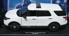 Motormax 1/18 Ford PI Utility Police SUV Blank White w/Lightbar (Explorer) 73541