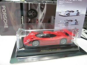 Kyosho - PORSCHE Collection 3 - 911 GT1 - RED - 1/64 - Mini Toy Car - A20
