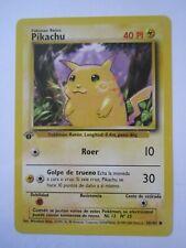 Spanish 1st Edition PIKACHU (58/102) Single Common Pokémon Card Mint