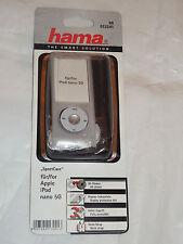 """00013241 hama """"sport case"""" MP3 étui pour ipod nano 5G, transparent + sangle + foil"""