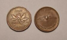 1867-1967 Centennial 100th Anniversary Canadian One Cent Dove 1983 Copper Coin