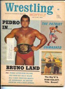 Wrestling Monthly 6/1972-Patriot comic strip-Jerry Lawlor-Fred Ward-Bruno Sam...