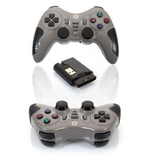 Game Wireless Remote Controller Gamepad with Receiver for PC Laptop Grey US Ship