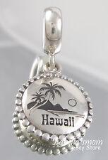 HAWAII Aloha Genuine PANDORA Sterling Silver TRAVEL DANGLE Charm/Bead NEW