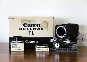 Mint/Unused Vintage Canon FL Bellows + Macro Photo Coupler and Canon Converter A