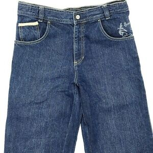 Quicksilver W30 blau Herren Men Jeans Hose Denim Designer Mode Retro Vintage VTG