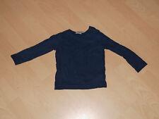 Kleinkind Pullover Sweatshirt dunkelblau unifarben Gr. 86/92 - Jungen