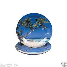 8 LUAU Tiki TROPICAL Beach Party Paper SAND u0026 SUN Lunch DINNER PLATES 9 inch  sc 1 st  eBay & Luau/Beach Paper Party Plates | eBay