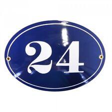 Hausnummer Hausnummernschild Emaille 15x21 cm Oval mit Wunschnummer