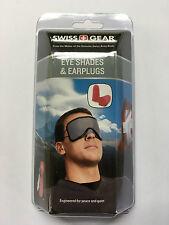 Swiss Gear Eye Shades and Earplugs, Grey, (2/Lot)
