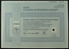 1 Papier: 50 Aktien über 50 DM: DOAG Holding Aktiengesellschaft. entwertet