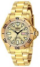 Invicta Hombres Firma Automático 200m chapado en oro reloj acero inoxidable 7047