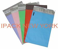 "10 Poly Mailers Envelope Shipping Supply Bags 6x9"" multi color (2/COLOR)"