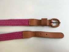 """Patagonia Belt Women's Pink woven web leather buckle ends Size M (31-33"""")   #19"""